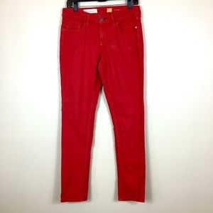 Pilcro and the letterpress Stet Red Jeans sz 29
